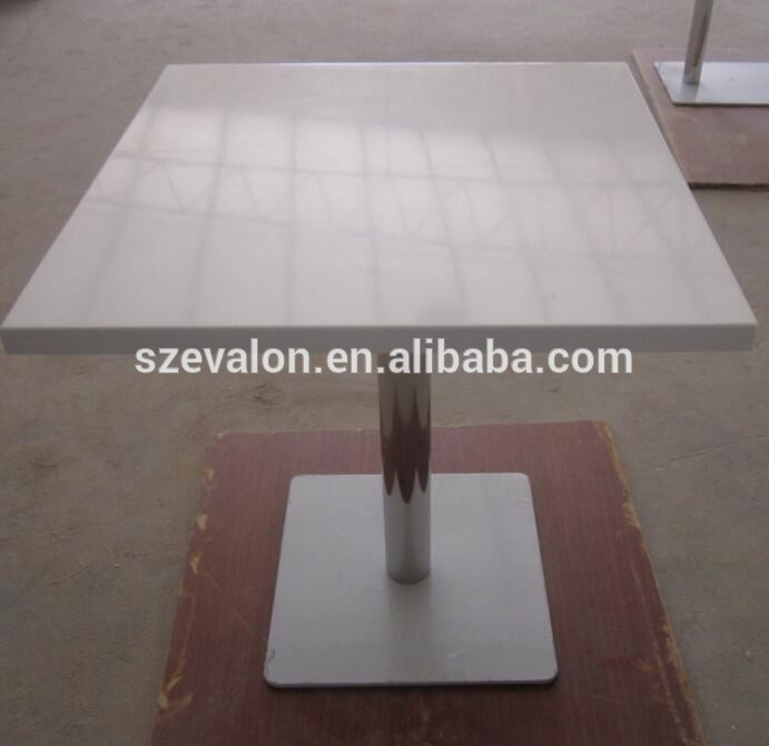 8 Seater Long Narrow Dining Table , Marble Table Top For Restaurant