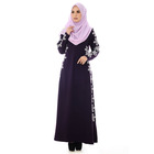 Latest high fashion printed jubah long dress fashion arab jilbab