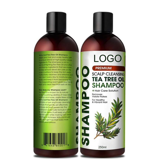tea tree oil anti hair loss shampoo 250ml refreshing  nourishing natural shampoo