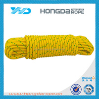 "3/8 "" PP double braided rope Poly Rope 16 strand Braid"