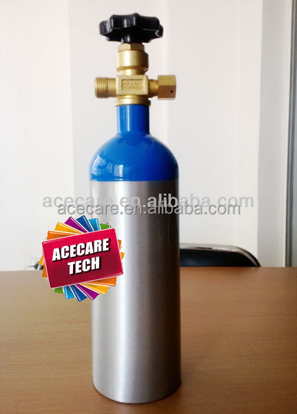 1L-150bar oxygen bottle with valve gas cylinder aluminum alloy 6061