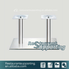 Two tube table bases stainless steel table base Dining table base