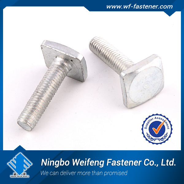 m4 square head bolt/China bolt supplier,zinc plated,manufacturing and producer in Ningbo