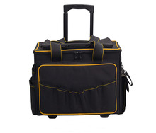 China Manufacture Customized Waterproof 18 Inch Trolley Tool Bag With Lighted Handle For Workers