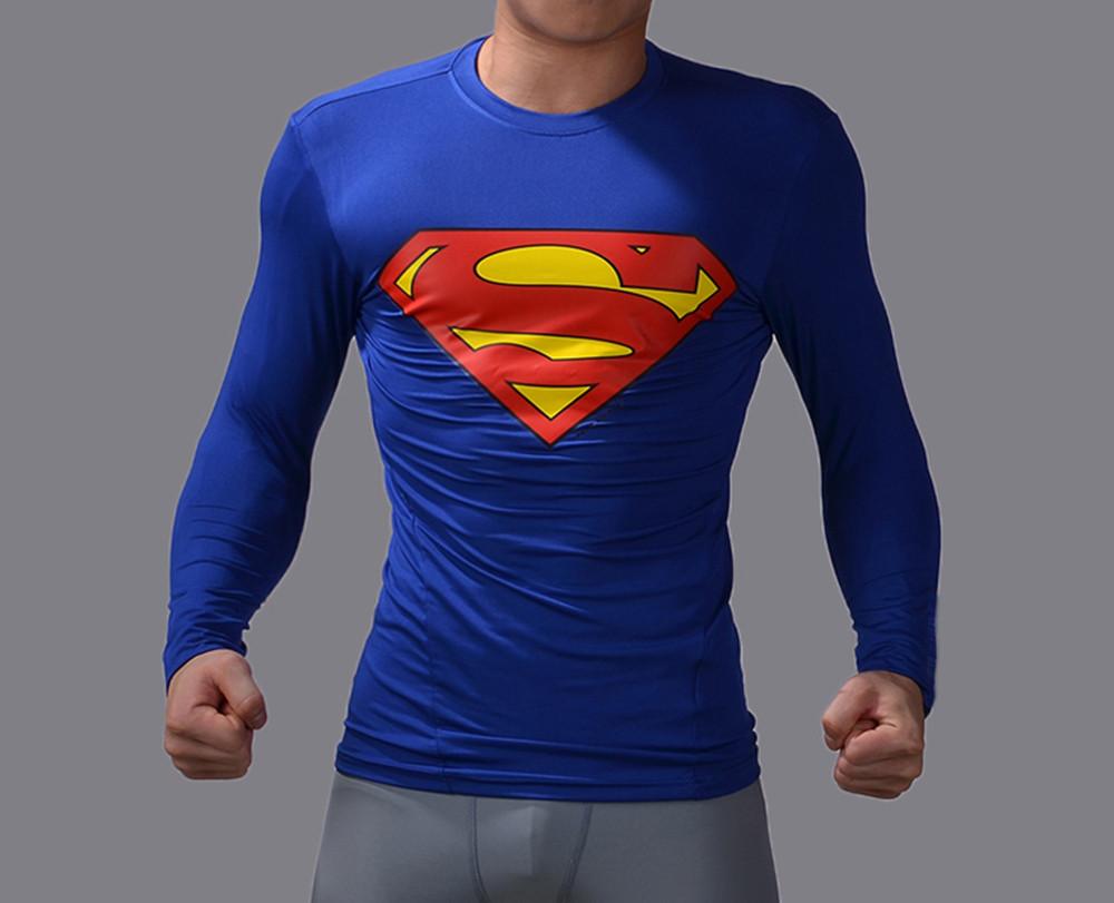 superhero 3d printed long sleeve shirt marvel superman bat man shirts cosplay jersey tee tops. Black Bedroom Furniture Sets. Home Design Ideas
