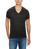 High Quality T Shirt Blank Ribbed Vneck
