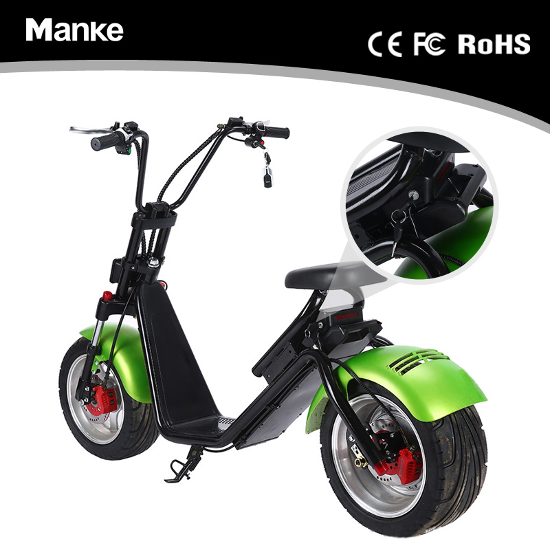 New model manke citycoco 2 wheel 60V removable lithium battery e-scooter citycoco with front shock absorption