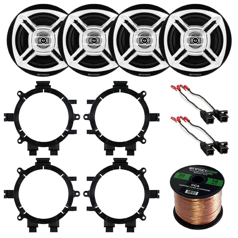 "Get Quotations · Car Speaker Bundle Combo: 2 Pairs of Enrock EKMR1672C 6.5""  Inch 200 Watts 2"