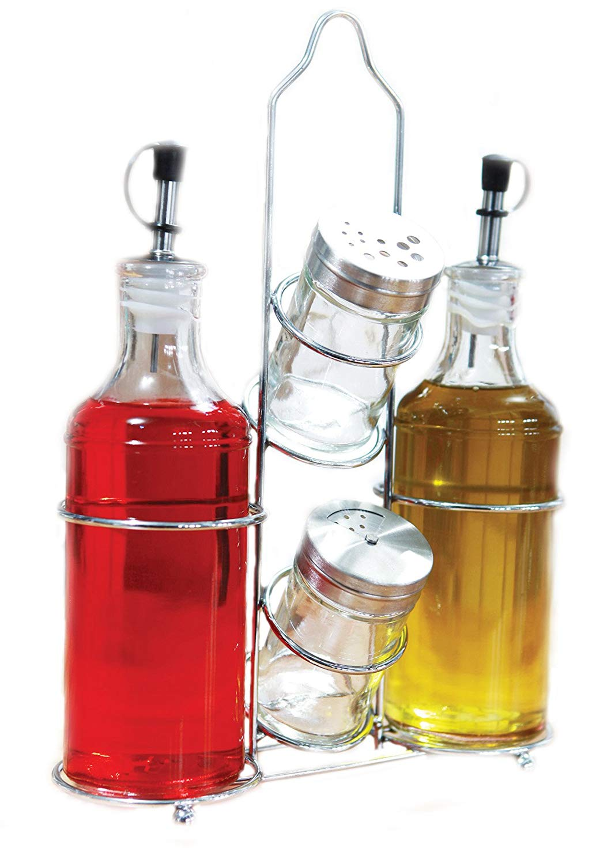 Tescoma Club Oil-Vinegar Salt-Pepper and Toothpicks Set