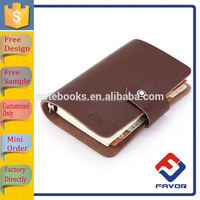 office product a7 grey color senior business pvc leather notebook
