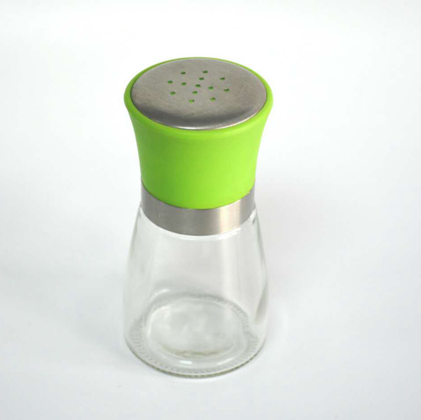 pepper and spice grinder glass bottle / jar / salt mill / pepper shaker