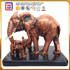 Fork Art Style Resin elephant Souvenirs and handcraft elephant statues and resin elephant statues