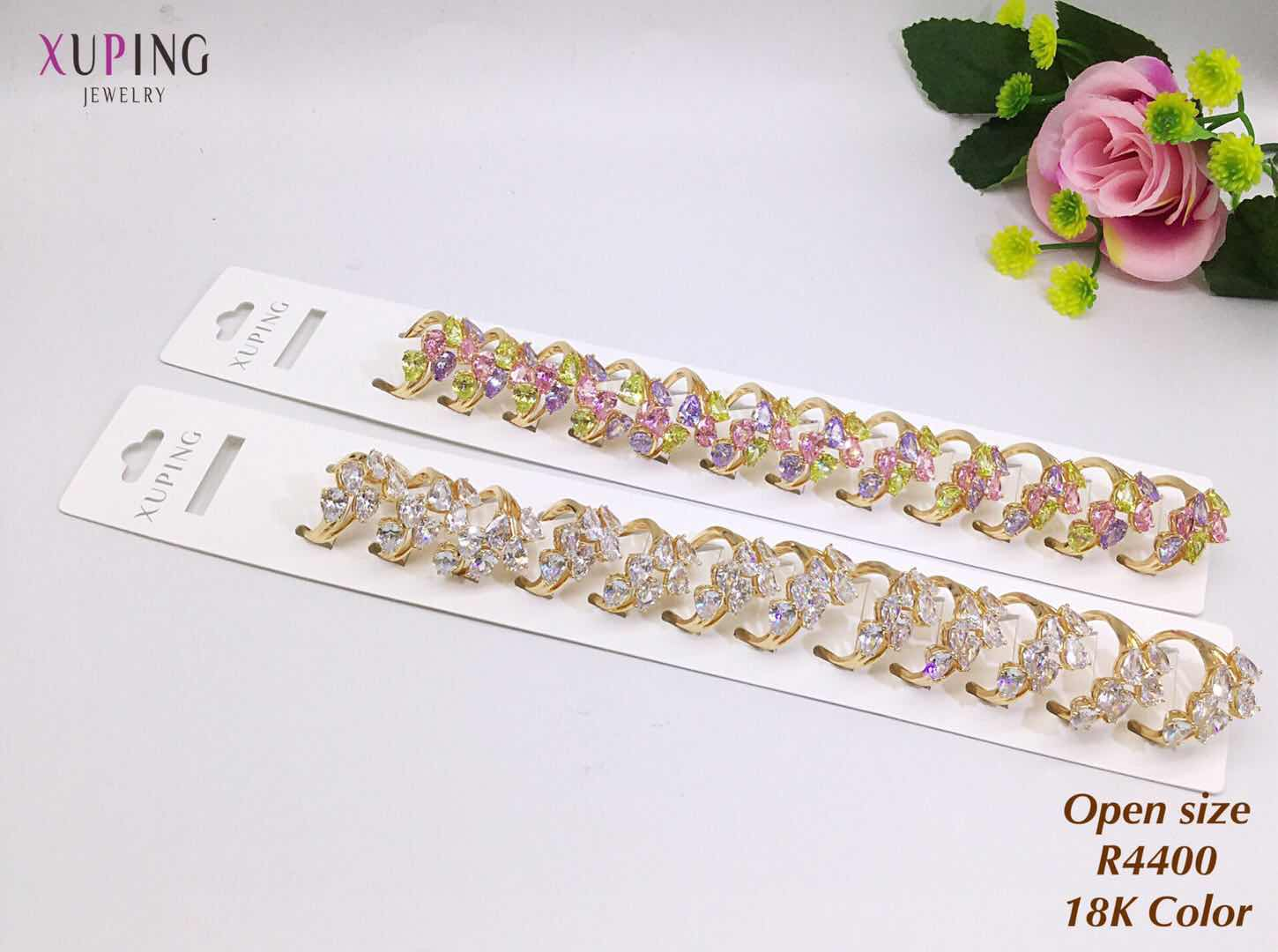 yiwu ring -1 Xuping Jewelry Fashion Hot Sale Colored stone rings of different prices