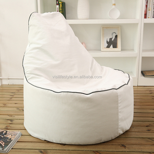 Home Chairs Outdoor/Indoor Lounge Chair Sitting Bean Bags Water/Tear Drop White Bean Bag