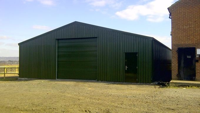 Light steel frame used insulated prefab parking garage for for Steel frame barns for sale