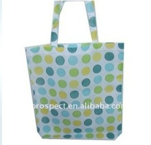 2011 reusable design fabric non woven foldable home storage spot shopping bag