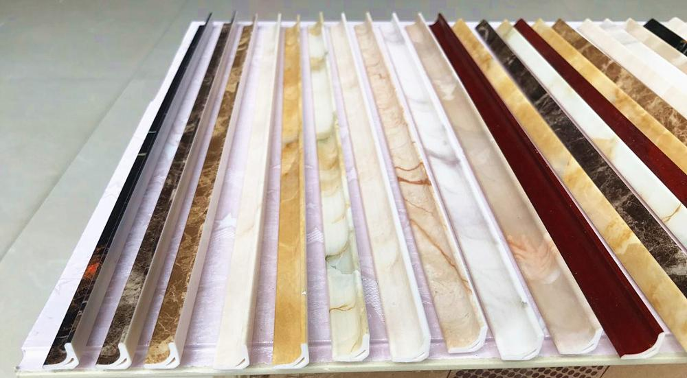 pvc tile trim marble sheet moulding t shape corner profile edge border