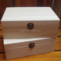 New arrival unfinished Paulownia wood small wooden box tower storage box