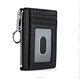 Boshiho black color chain wallet gift rfid blocking bank place sim leather card holder wallet