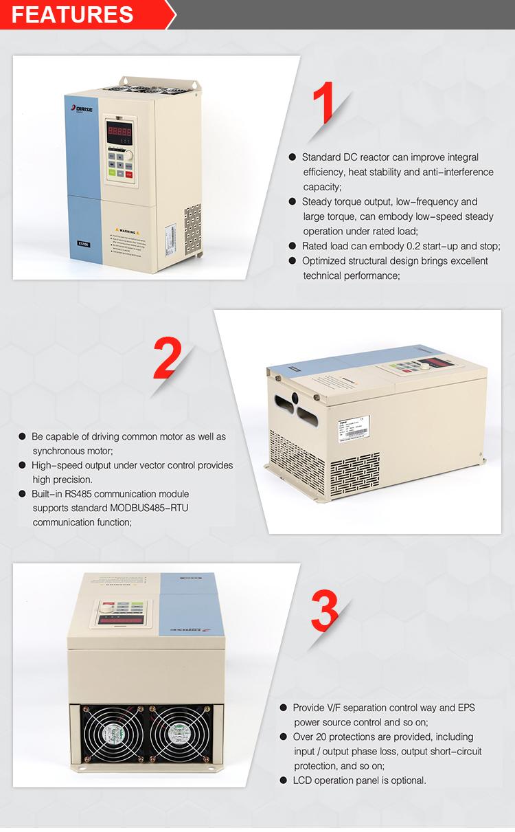 Es300k Air Compressor Asynchronous Inverter General Low Load Overvoltage Protected Control Triple Phase 380v 20