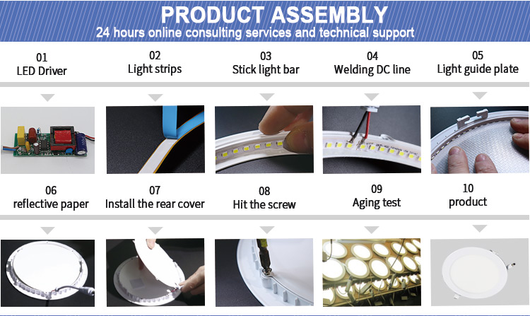 Wholesale lighting factory price 2700k 6500k SMD2835 9w 12w 18w round LED panel light
