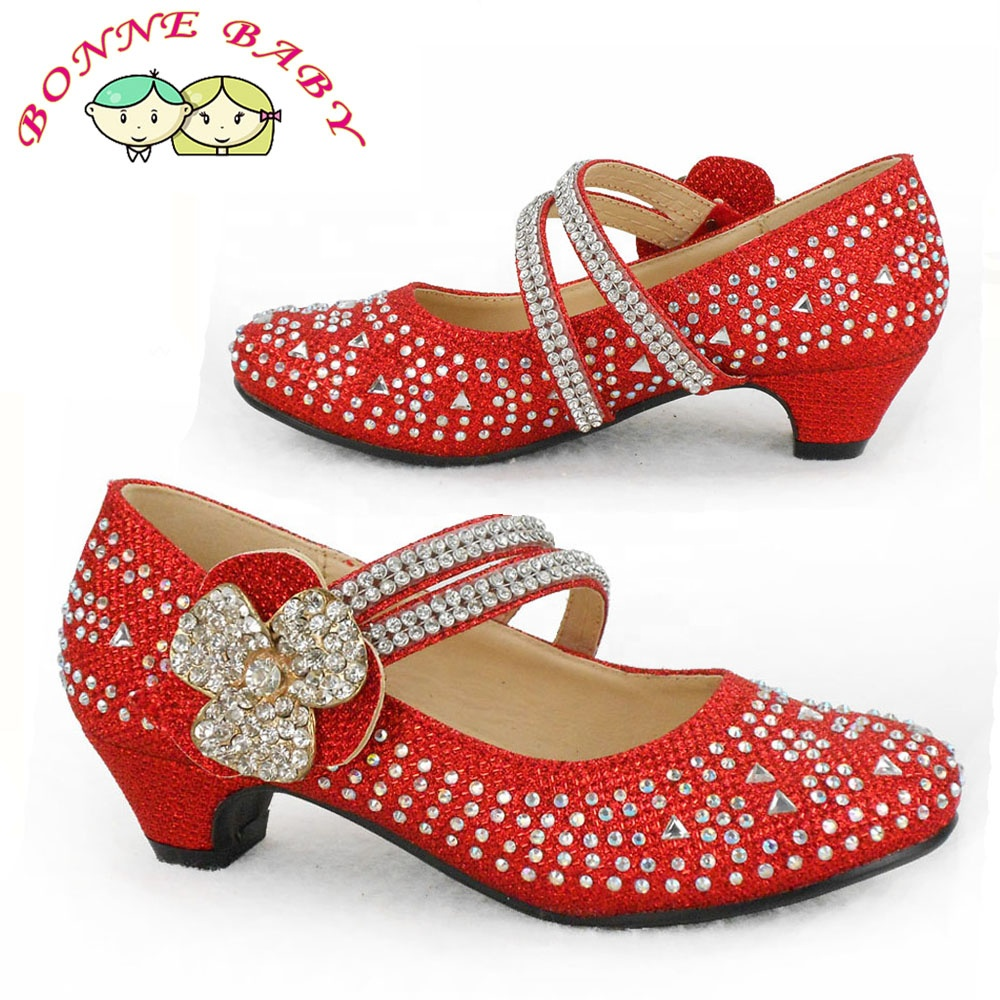 fced6c0f 2019 New Arrival Red Crystal School Uniform Shoes For Children - Buy ...