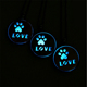 New Personality Glow In The Dark Dog Claw Necklace Pet Footprints Necklace Hollow Out Pendant Necklace