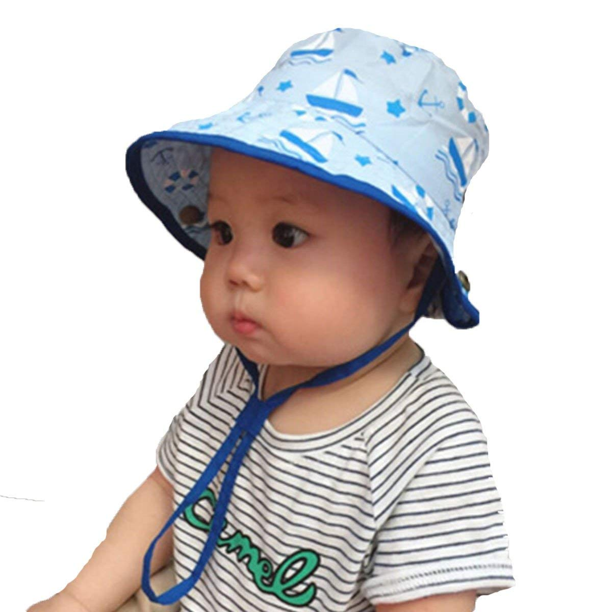 Get Quotations · Sun Hat for Baby Toddler Kids Breathable Bucket Hat a58e0db0bfa3