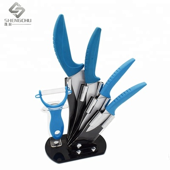Ceramic Kitchen Knife Set With Acrylic Stand - Buy Kitchen Knives Ceramic  Set,Royal Kitchen Set,Ceramic Knives Set Product on Alibaba.com