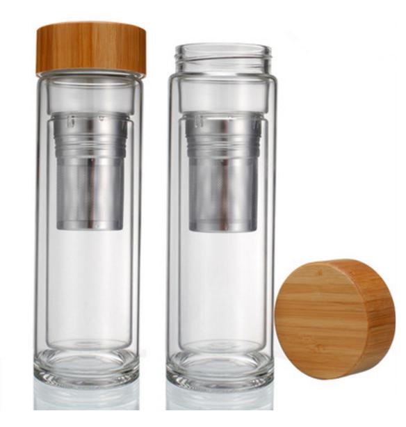 OEM/ODM vendita calda nuovi prodotti di vetro doppia tè infusore tumbler