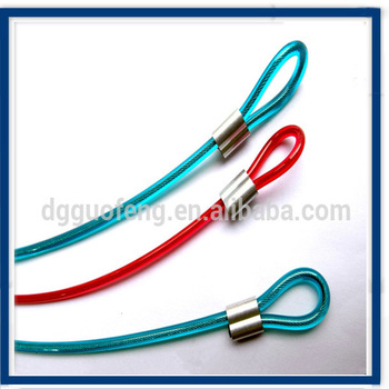 Various Color Pvc Coated Steel Wire Rope Sling With Ferrules - Buy ...