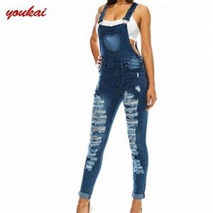 46177d0d2e3 Girls skinny damaged ripped jeans denim jumpsuit