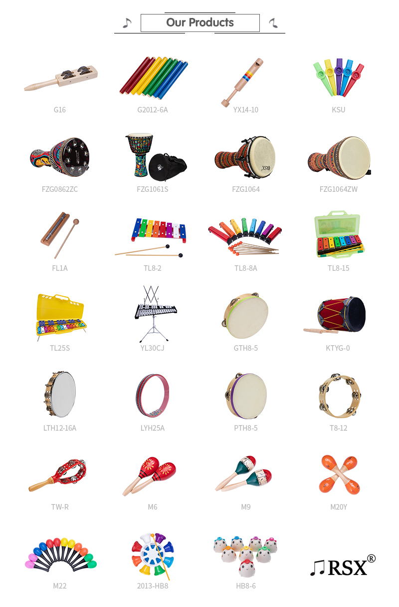 ขายส่งเครื่องดนตรีเด็ก bass กลองไม้กลอง tambourine กับ drumsticks