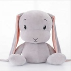 Factory wholesale custom soft toy stuffed plush white rabbit easter bunny toy