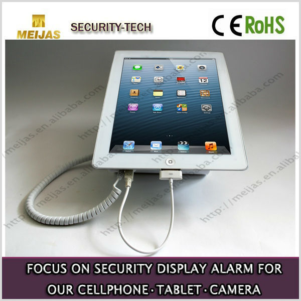 Alarming and charging security display stand for Tablet PC or laptops