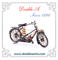 Wholesale vintage metal handmade bicycle model metal bicycle model iron crafts classic home decorative items