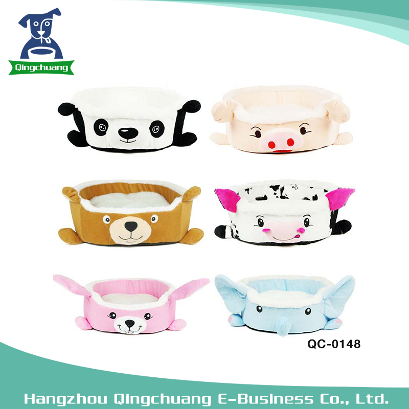 Cartoon shape animal short plush cartoon warm nest