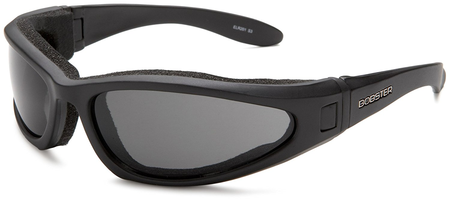 a877dc5a5402 Get Quotations · Bobster ELR201 Low Rider II Sport Sunglasses,Black Frame/3  Lenses (Smoked,