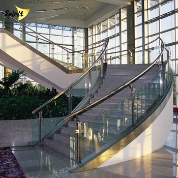 Modern Design Stainless Steel Staircase Railing Price India Curve Duplex House Gl Stair