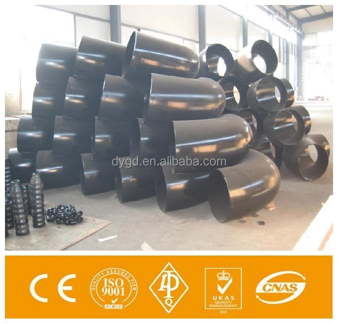 schedule 40 carbon steel forged pipes fittings elbow made in China/ASTM A815 WPS32205 90 degree elbow