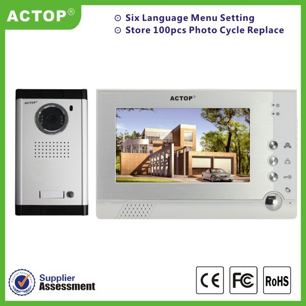 ACTOP 4 wired 7inch VDP multy-function video door intercom system.