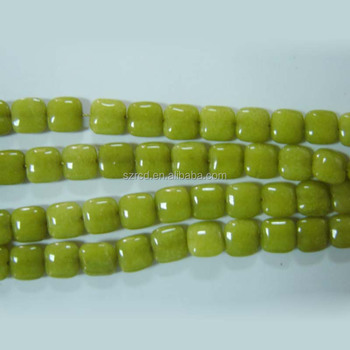 Factory price lemon jade square 16 inch for necklace