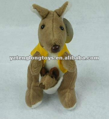 Soft plush stuffed kangaroo/ australia souvenir toy