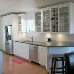 white paint shaker modular kitchen cabinets factory sale