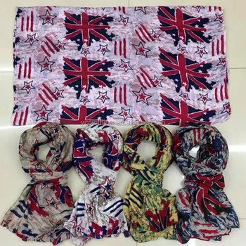 UK Flag printed women beautiful hijab scarf