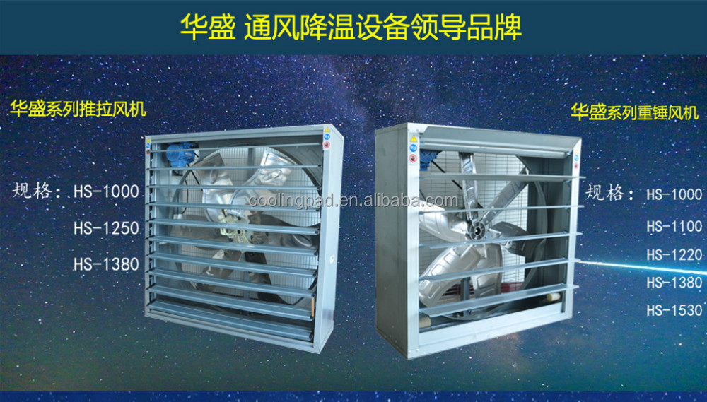 hs series poultry equipment 36''/48''/50'' centrifugal exhaust fan with CE