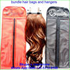 customized satin bag for afro full lace human hair wigs for men lucury present package bag