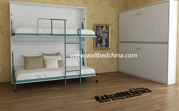 Wall Bunk Bed Double Decker Hidden Wall Bed   Buy Folding Wall Bed,Double  Decker Wall Bed,Horizontal Wall Beds Product On Alibaba.com