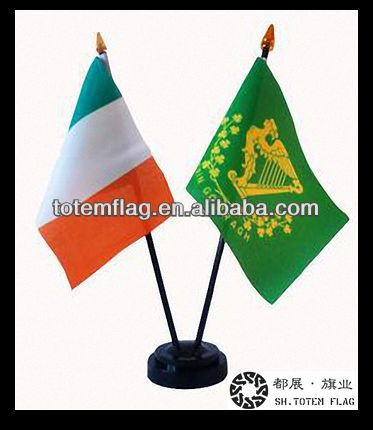 Desk Banner , Plastic Table Flag Banner , Telescoping Table Banners