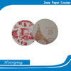 Factory competitive price OEM drinking paper coaster / absorbent paper coaster /beer paper coaster with customized logo